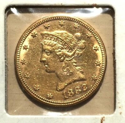 1892 $10  Liberty Head Gold Eagle - BEAUTIFUL AU