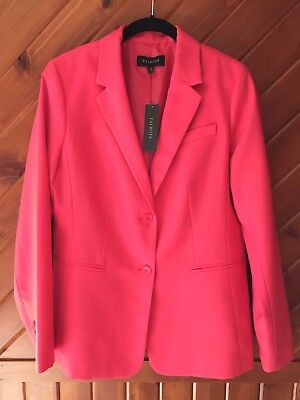 Talbots Jacket 10 Two Button Blazer Pink Career Suit Lined Size 10 New