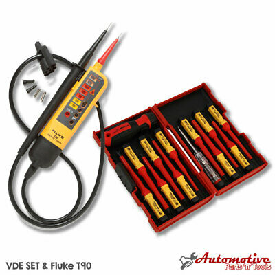 Electricians Testing VDE Tool Kit Fluke T90 & 1AC - Insulated Screwdriver Set