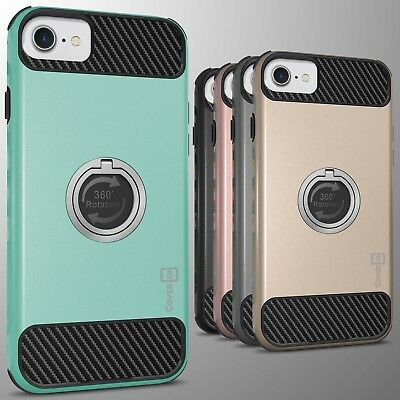 For Apple iPhone 8 / iPhone 7 Hybrid Protective Hard Cover Case w/ Grip Ring