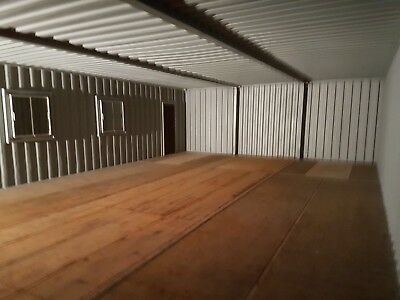 40 X 24. Ft Wide Linked Container Workshop.. Strengthened.