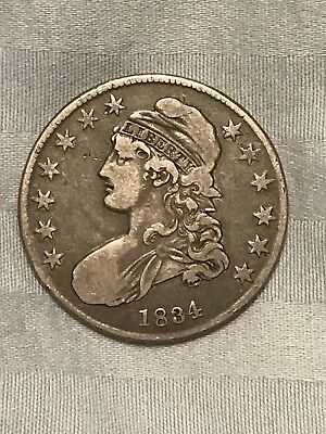 1834 50C Sm Date Small Letters Capped Bust Half Dollar