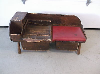 Early Antique Primitive Cobbler's Bench In Old Surface