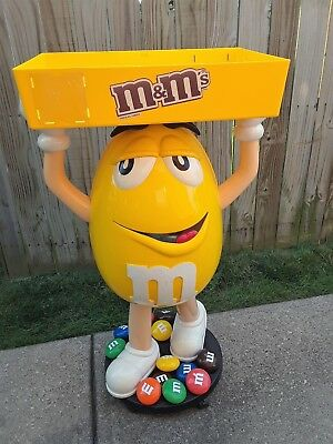"Original Yellow M&m Candy Figure Store Display 45"" Tall ~ Halloween Prop?"