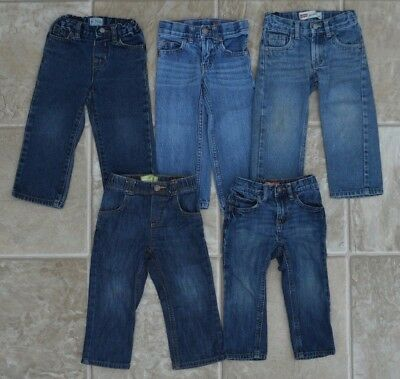 Toddler BOYS Jeans LOT of 5 size 2t Old Navy Children's Place Carters Levis EUC