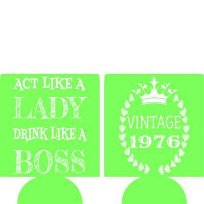 40th Birthday koozie no minimum drink like a boss can coolers quick shipping