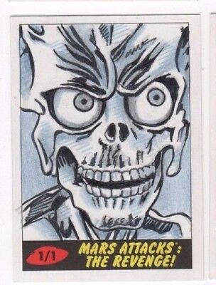 2017 Mars Attacks Revenge sketch card Todd Aaron Smith