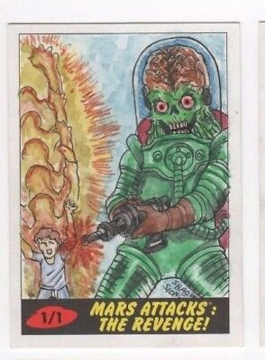 2017 Mars Attacks Revenge sketch card Shaow Siong