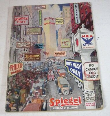 Original 1933 Spiegel Fall and Winter Catalog Chicago Illinois Great Graphics