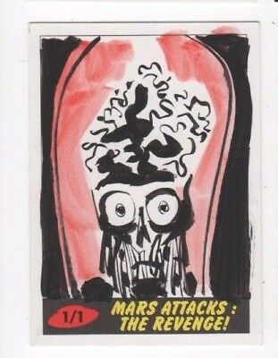 2017 Mars Attacks Revenge sketch card Lowell Isaac