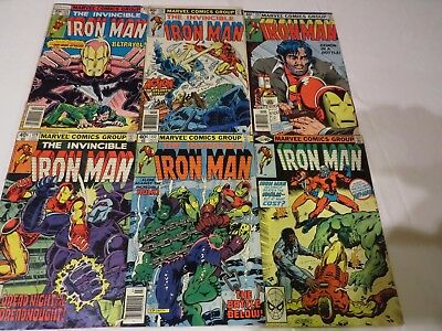 The Invincible Iron Man #115 124 128 129 132 133 - 6 ISSUE IRON MAN LOT