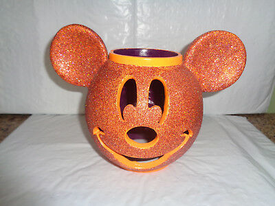 Disney Mickey Mouse - Halloween - Glitter - Orange - Candle Holder