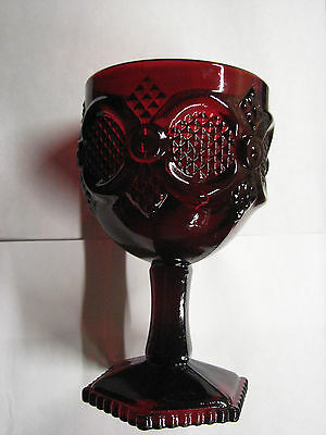 """Avon Cape Cod Collection Ruby Red 6"""" Water Goblet"""