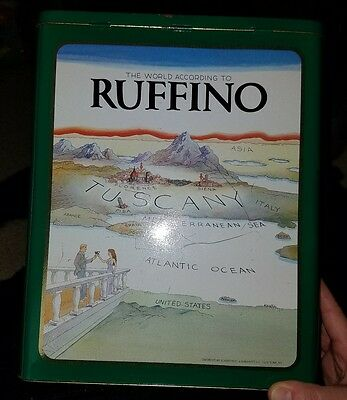 The World According to RUFFINO Wine Tin Can Made in England Vintage