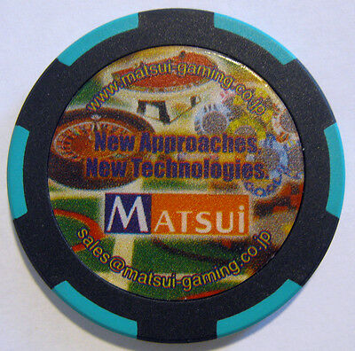 Matsui Gaming Machine Co. Ltd. manufacturer's promo sample casino poker chip