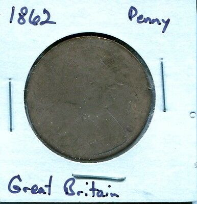 Great Britain (UK) - 1862 - One Penny - Circulated