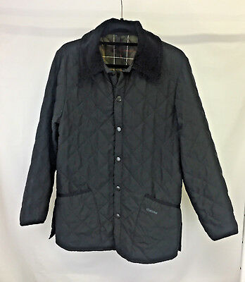 Barbour Jacket D895 Classic Eskdale Jacket XS Extra Small Black Quilted Coat