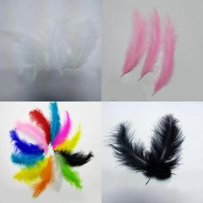 200 x Fluffy Marabou Feathers 12-15cm Crafts Embellishments Trimming