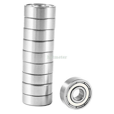 H● 10 Pcs 607ZZ Metal Sealed Single Row Deep Groove Ball Bearing