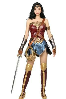 new chic Wonder Woman Costume Adult Halloween Cosplay Costume Outfit & Props 99