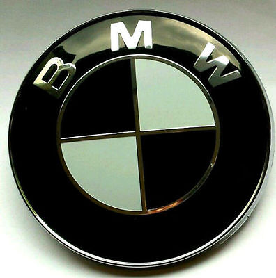 1x motorhaube emblem bmw 82mm heckklappe echter. Black Bedroom Furniture Sets. Home Design Ideas
