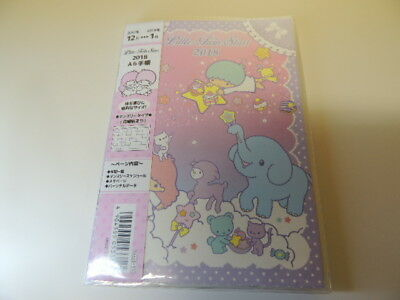 Little Twin Stars Kiki & Lala 2018 A6 schedule note agenda Japan new Sanrio
