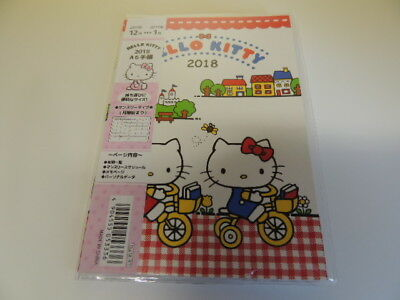 Hello Kitty 2018 A6 schedule note agenda Japan new Sanrio
