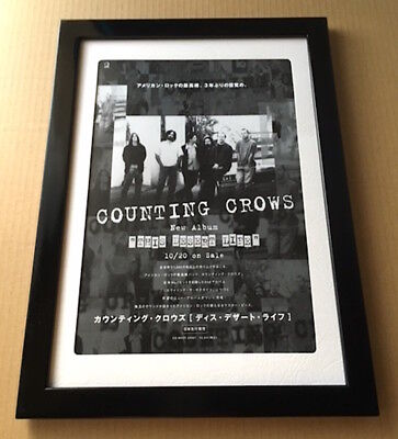 1999 Counting Crows This Desert Life JAPAN album promo mini poster ad FRAMED 11r