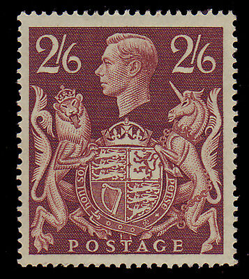 Gb. Kgvi. Sg 476, 2/6 Brown, Arms Series. Unmounted Mint.