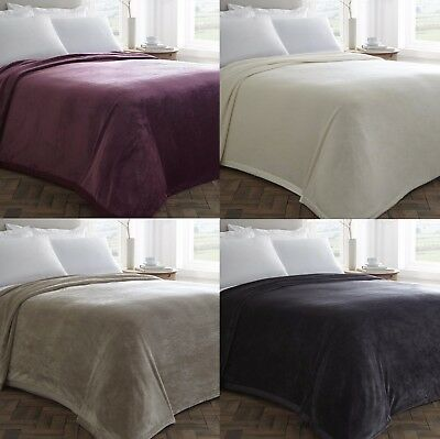 """Extra Large Plush Blanket Throws,Super Soft Quality,4 Great Colours 100"""" x 100"""""""