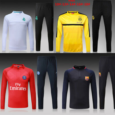 2017/18 Real Madrid PSG Kids SOCCER TRACKSUIT SURVETEMENT FOOTBALL Sportswear