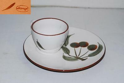 5 Stangl ORCHARD SONG Snack Plate Plates  & Cup Cups Set