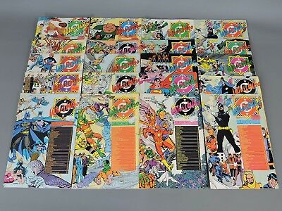 DC Comics: Collection of 20 Vintage 'Who's Who' Comic Books 1985-1987