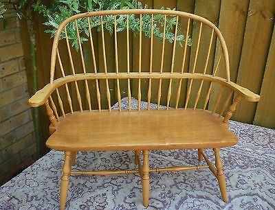 Vintage Quality Apprentice Piece Wooden Model Of A Winsor Settee~Two Tier Back