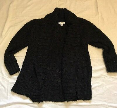 Motherhood Maternity Black Open Front Sweater Cardigan Size Medium EUC