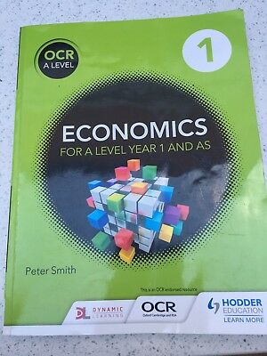 Good Condition OCR A Level Economics For Year 1 And AS Book