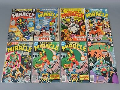 DC Comics: Collection of 8 Vintage 'Mister Miracle' Comic Books 1971-1977