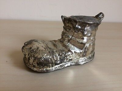 Silver Plated Boot - Vintage Money Box (1979)