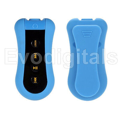 Evo Blue 8Gb Waterproof Mp3 Music Player Sport Swimming Diving Underwater + Fm