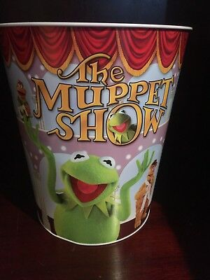 Jim Henson The Muppet Show Trash Can Kermit The Frog Miss Piggy RARE Muppets