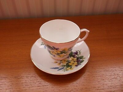 Fenton Bone China Cup and Saucer Flowers