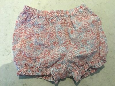 Little White Company Girls Floral Shorts Size 12 - 18 Months New Without Tags