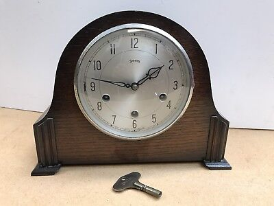 1930's Art Deco Westminster Chiming Mantle Clock. Open To Offers.