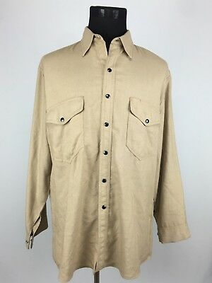 Workrite Flame Resistant Nomex Shirt Size 48 (17.5-35.5) Long Sleeve Beige