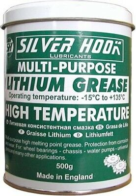 Silverhook Lithium Grease Extreme Pressure, High Temperature Multi Purpose 500 g