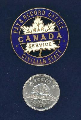 Canada War Service Pay & Record Office, Civilian Staff-gilding metal and enamel