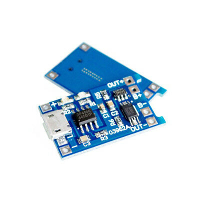 Arduino 2PCS Charger Module Protection 1A Micro USB 5V 18650 Lithium Battery