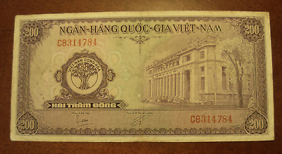 South Vietnam ND 1958 200 Dong Note P9