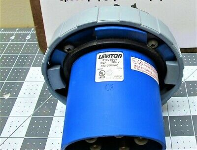 Leviton 5100B9W Flanged Inlet;100 Amp, 20/208 VAC 4-Pole, 5-Wire, NEW PULL [A7S2
