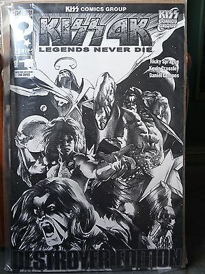 ~ HUGE ~ XL LARGE ~ KISS 4K SKETCH COVER ~ Limited Edition 200 COPIES ~ COMIC